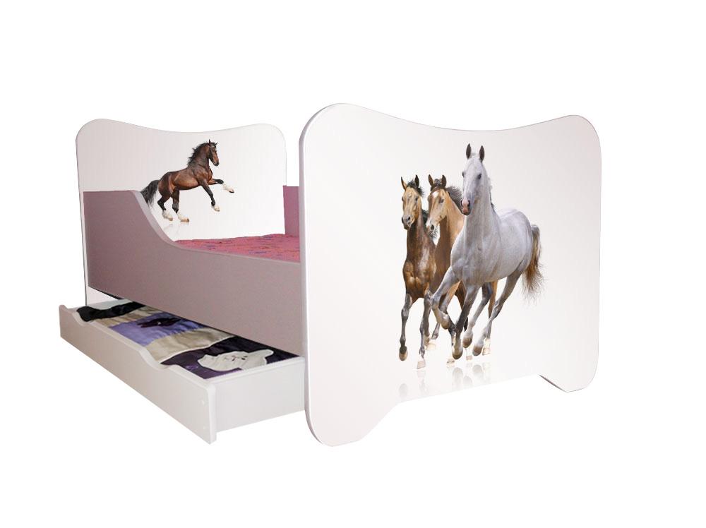 kinderbett spielbett 70x140 cm inkl lattenrost matratze verschiedene motive ebay. Black Bedroom Furniture Sets. Home Design Ideas